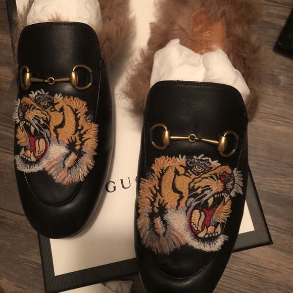 c910313942b Gucci Shoes - Authentic Gucci Princetown fur loafers